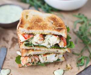 lobster, tarragon, and sandwich image