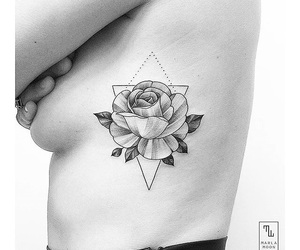 beautiful, flower, and geometric image