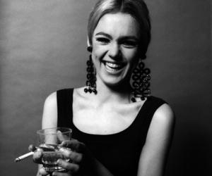 edie sedgwick, black and white, and cigarette image