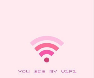 pink, wallpaper, and wifi image