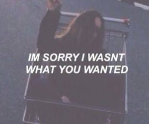 quotes, grunge, and sorry image