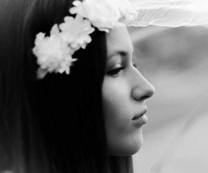 black and white, flowers, and goals image