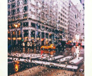 autumn, rain, and street image
