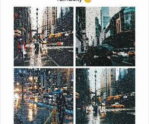 rain, city, and love it image
