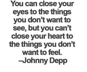 quotes, johnny depp, and heart image