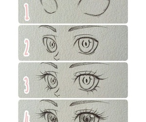 eyes, draw, and drawing image