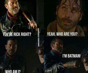 batman, LUCILLE, and rick image