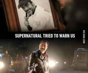 supernatural, book, and the walking dead image