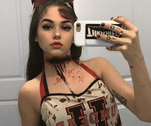blood, girl, and makeup image