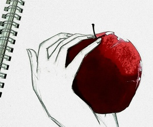 apple, art, and drawings image