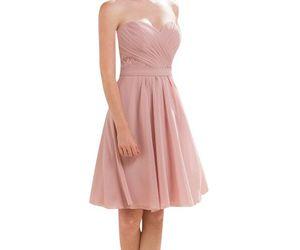 chiffon bridesmaid dress and blush bridesmaid dress image