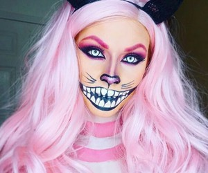 Halloween, makeup, and cat image