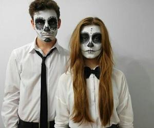 couple, alternative, and Halloween image