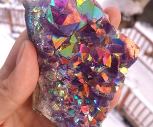 amethyst, gems, and hippy image