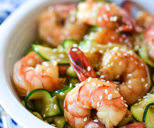 garlic, honey, and shrimp image
