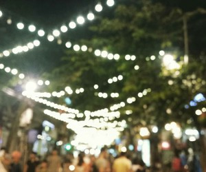 blur, crowded, and night image