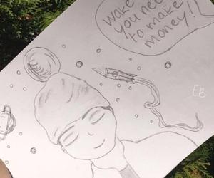 drawing, fanart, and song lyrics image