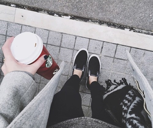 starbucks, fashion, and coffee image