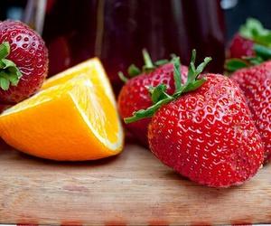 fruit, strawberry, and orange image
