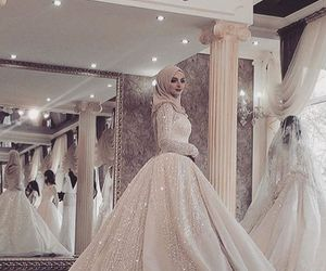 hijab and wedding image