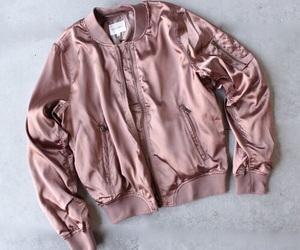 fashion, jacket, and rose gold image