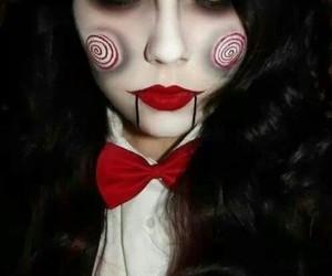 Halloween, saw, and makeup image