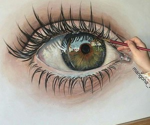 eye and drawing image
