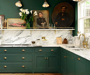 gold, green, and interior image