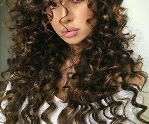 beauty, brown, and curly image