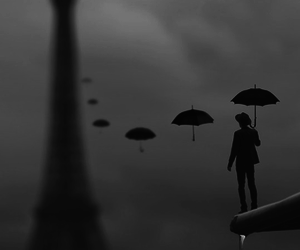 paris, umbrella, and art image