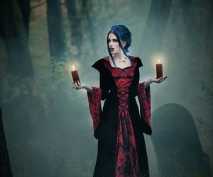 alternative, forest, and goth image