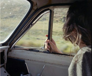 girl, car, and travel image