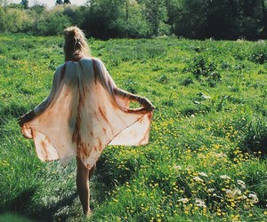 bohemian, girl, and nature image