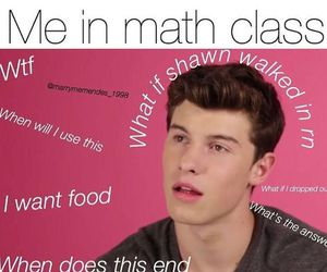 math, me, and shawn mendes image