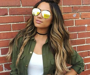 hair, sunglasses, and ombre image