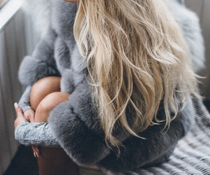 blonde, cozy, and fashion image