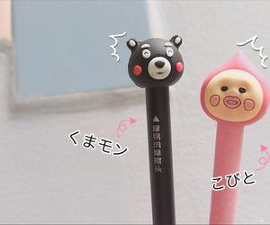 japan, pen, and kumamon image