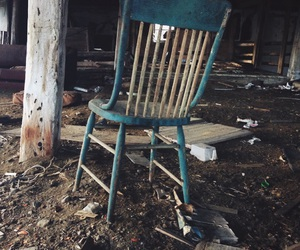blue, chair, and old image