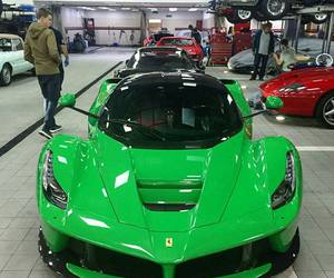 car, ferrari, and green image