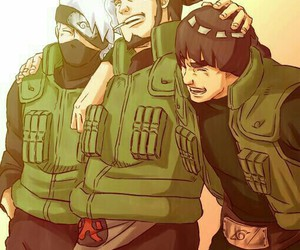 naruto, kakashi, and asuma image