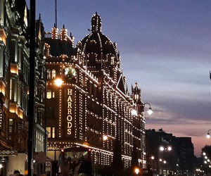 harrods, lights, and london image