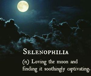 moon, night, and selenophilia image