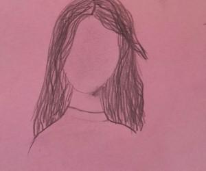draw, sad, and face image