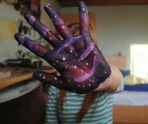 hand, cool, and galaxy image
