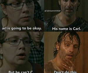 the walking dead, carl, and funny image