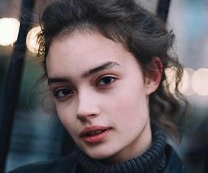 beauty, girl, and theme image