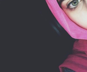 eyes, girls, and hijab image