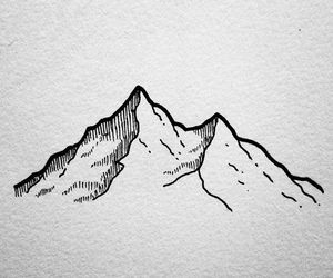 mountain, art, and draw image