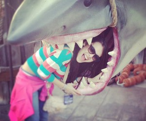 girl and shark image