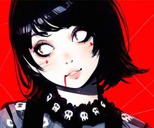 anime girl and art image